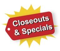 Closeouts & Specials