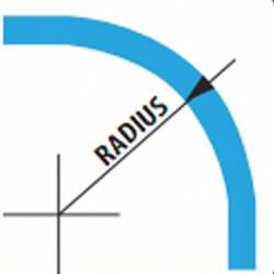 Blue Colored Radius Image