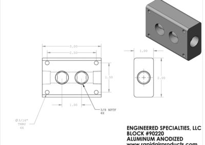 Outlet kit uses aluminum block