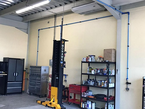 Compressed Air Piping Systems for Auto Body Shops