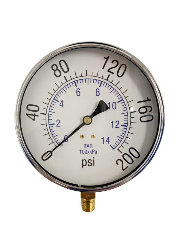 Pressure Gauge, Bottom Mount
