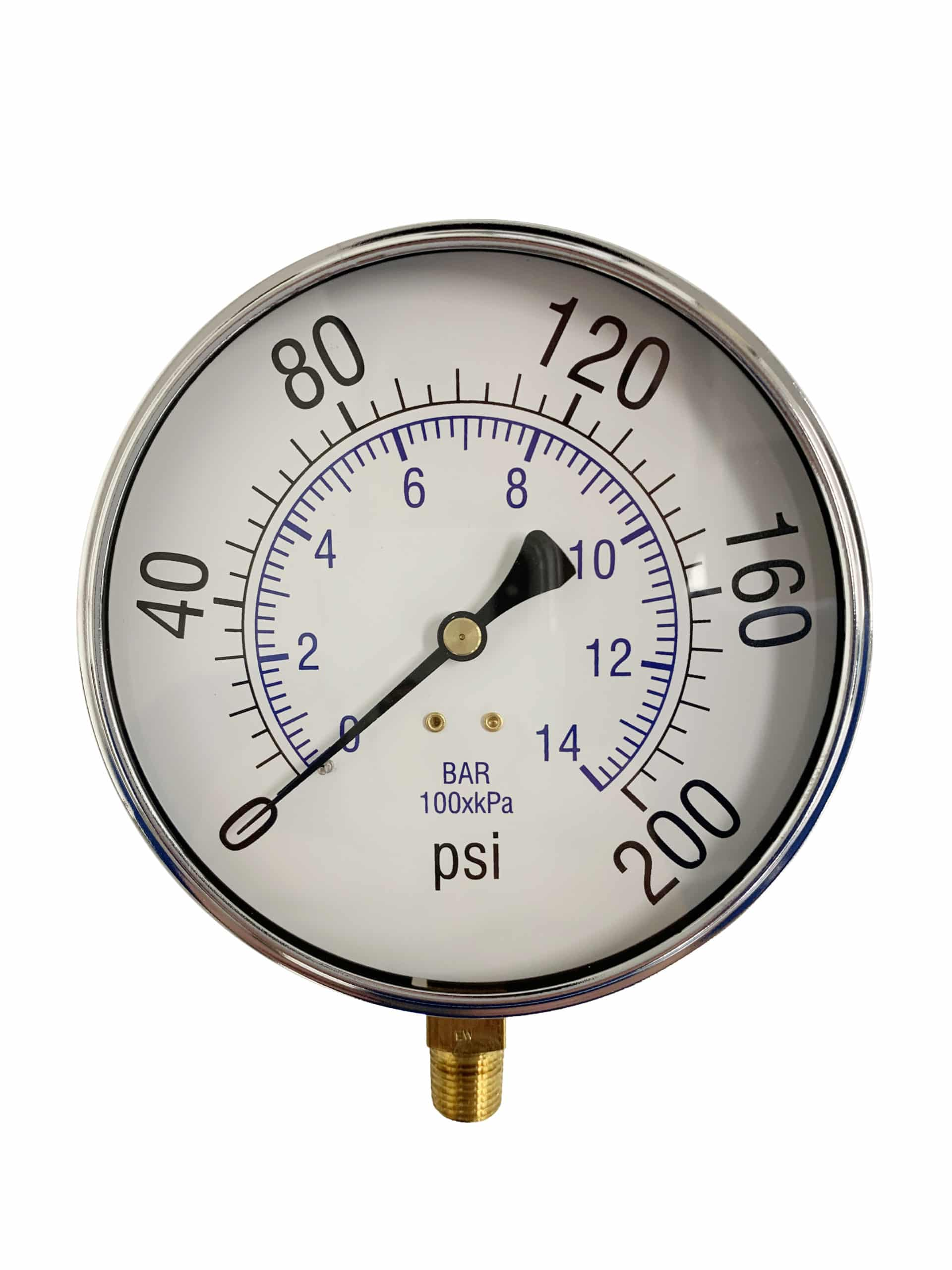 Pressure Gauge, Bottom Mount