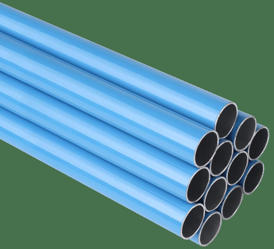 Rigid, straight aluminum alloy pipe