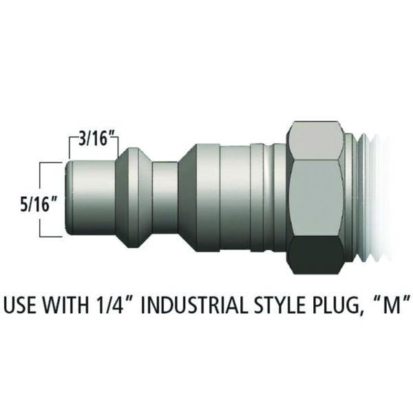 PLUG - 1/4 NPT MALE - 30 CFM BODY