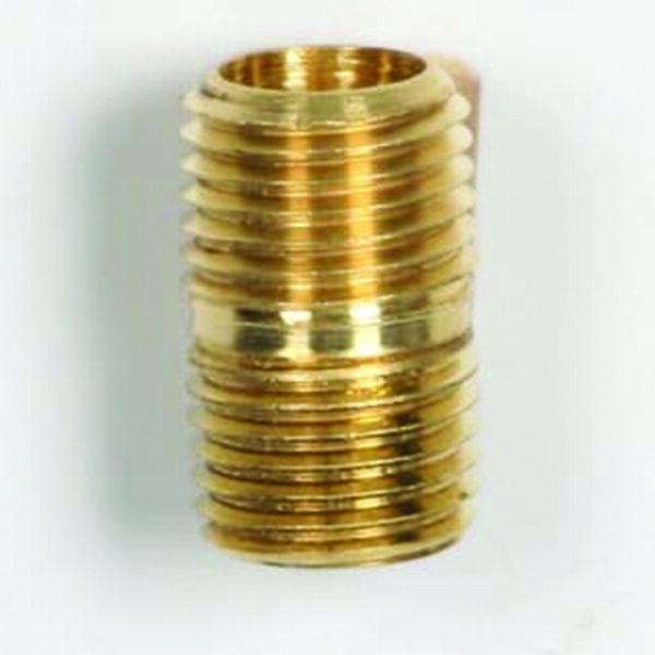 """¼"""" NPT Brass Close Nipple"""