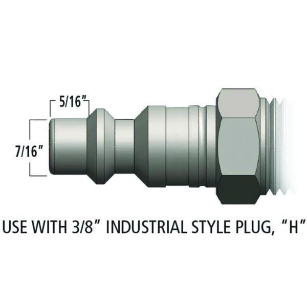 PLUG - MALE - 70 CFM BODY