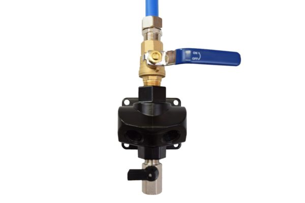 DURATEC DUAL PORT OUTLET W/ SHUTOFF VALVE